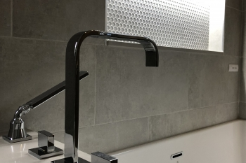 Contemporary Bathroom Remodel in Huntington Woods