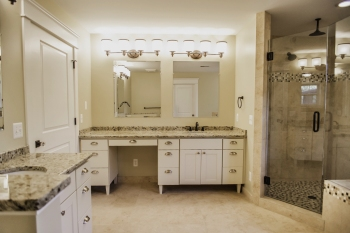Master Bathroom in New Construction Tudor in Franklin