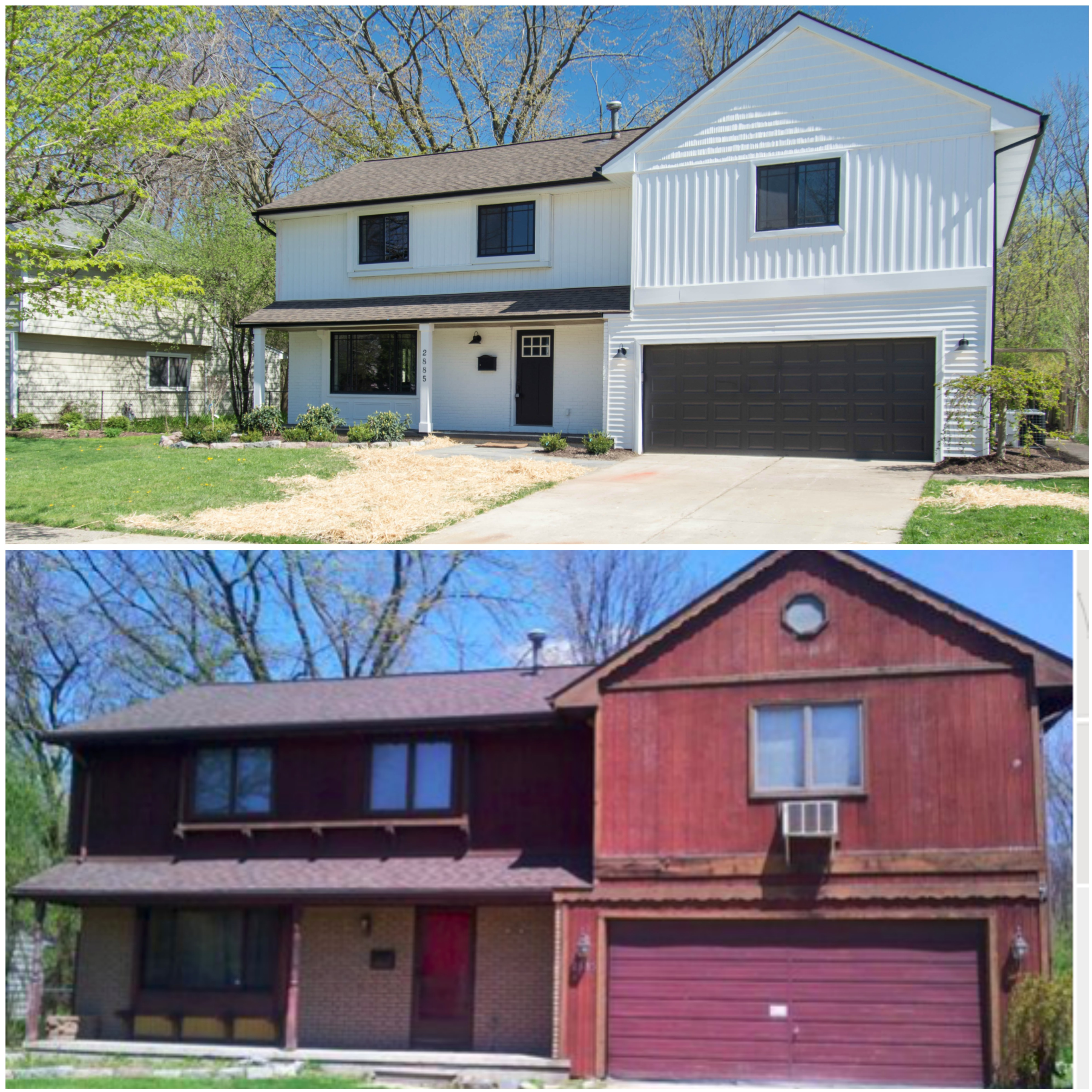 Napa Style Farmhouse in Ann Arbor Before and After
