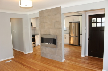 Open Living/Dining Space in Bungalow in Ferndale