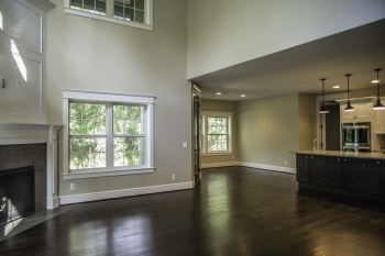 Open Living/Dining Concept in New Construction Tudor in Franklin