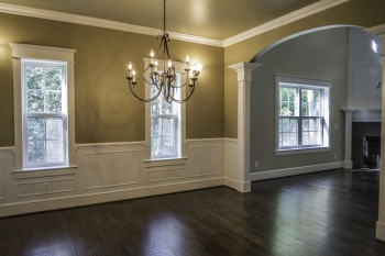 Moulding in Dining Room in Franklin New Construction Home