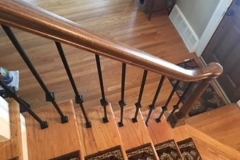 Staircase Railing Renovation in Royal Oak